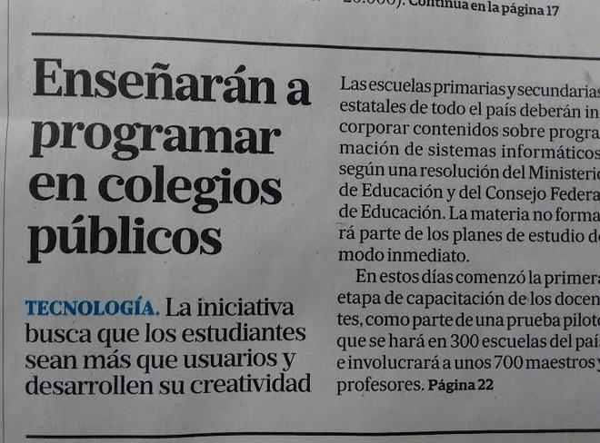 programación en colegios públicos