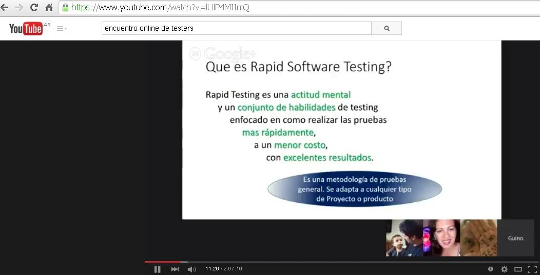 Encuentro Online de Testers - Rapid Software Testing