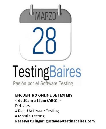 Encuentro Online de Testers