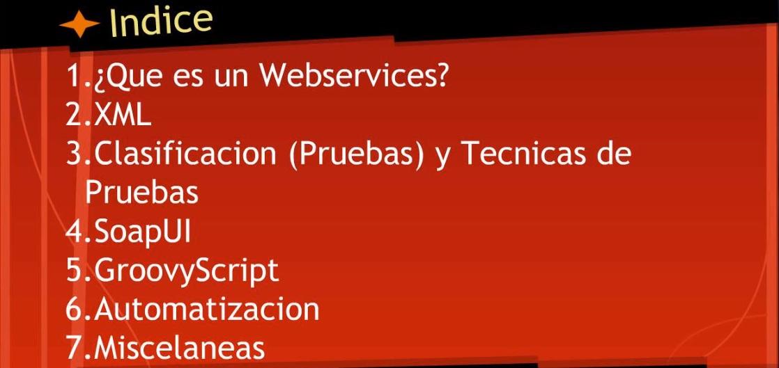 testing de webservices indice
