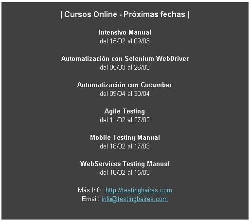Testing Cursos online