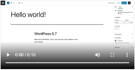 wordpress 5.7.1