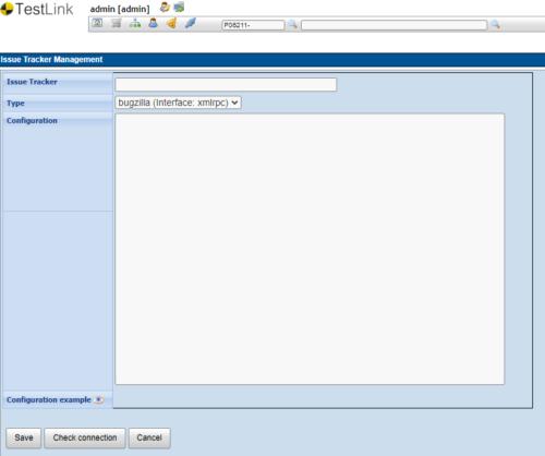 Explorando TestLink: opción Issue Tracker Management